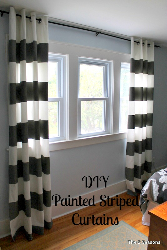 Painted Striped Curtains