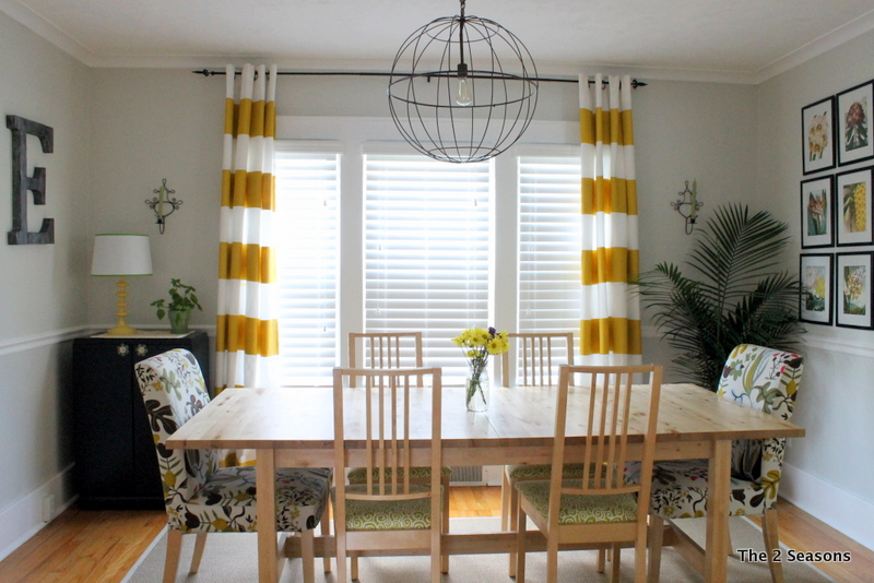 DIY painted curtains - The 2 Seasons