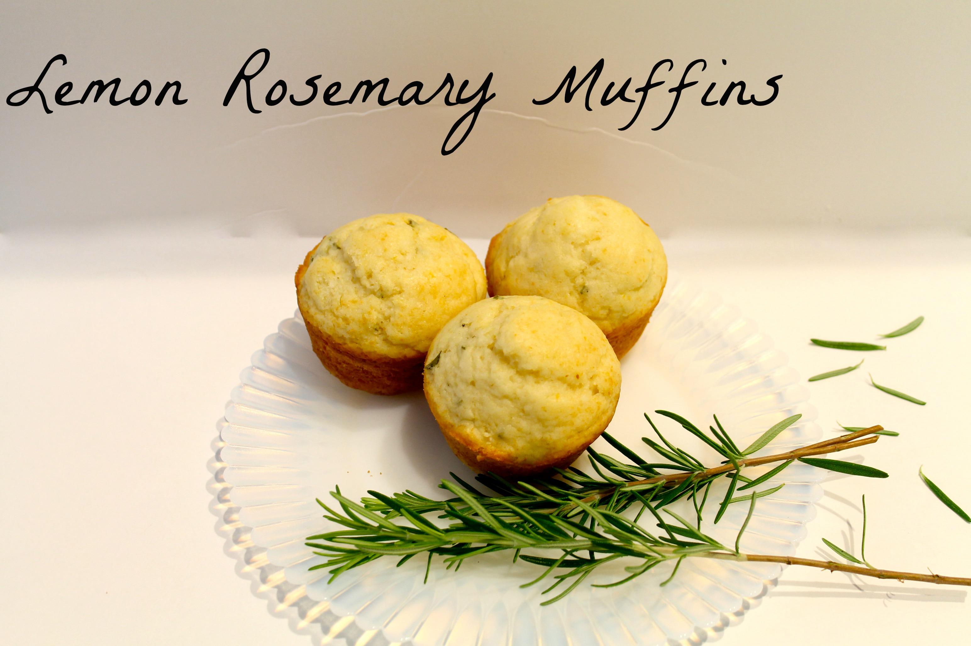 Lemon Muffins - Tailgating Recipe - Lemon/Rosemary Muffins