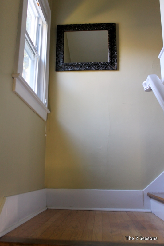 Stair landing before