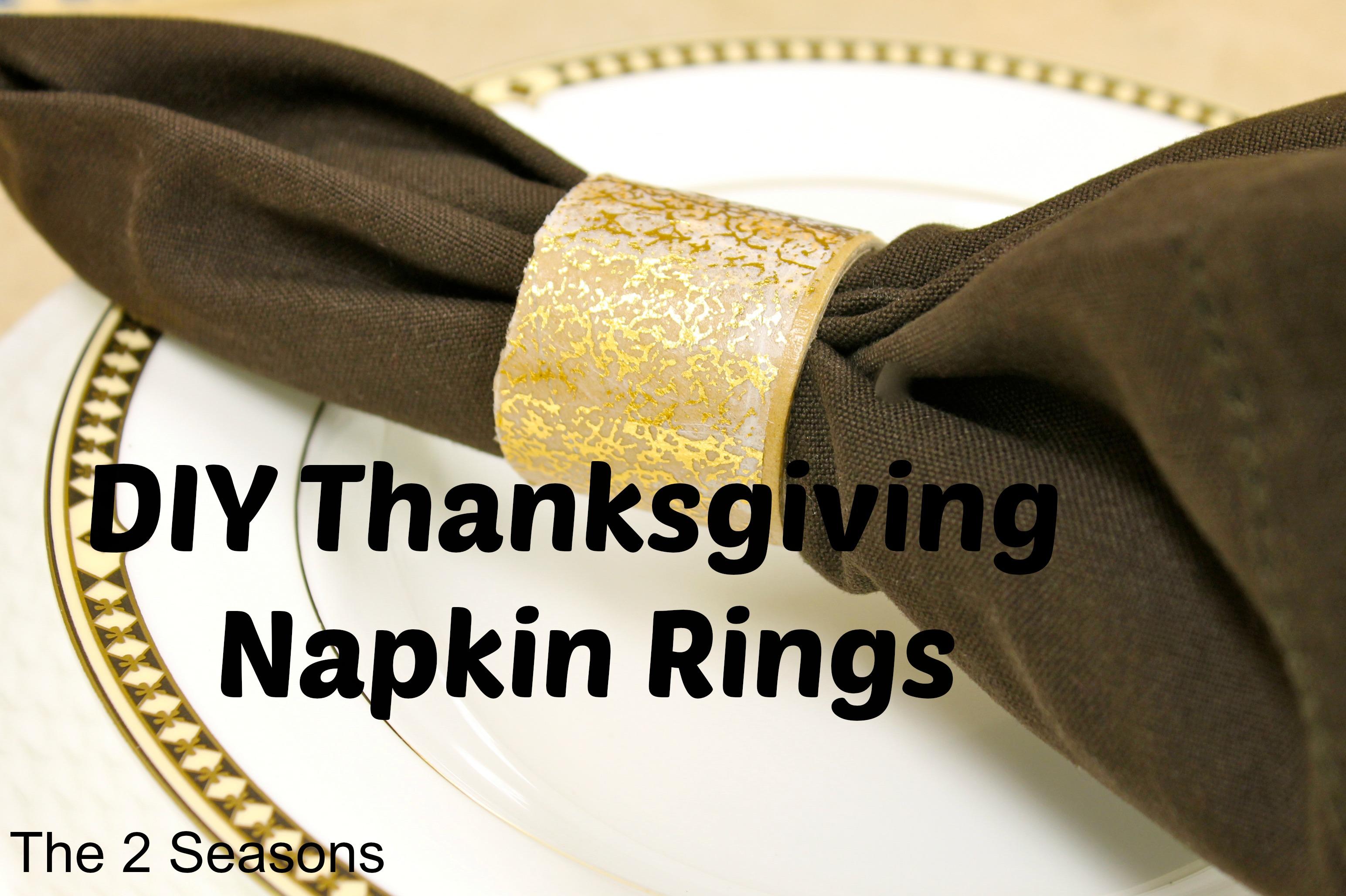 Napkin Rings 2 - DIY Thanksgiving Napkin Rings