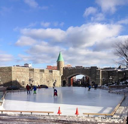 Canada ice skating - Our Romantic Get-away to Quebec City