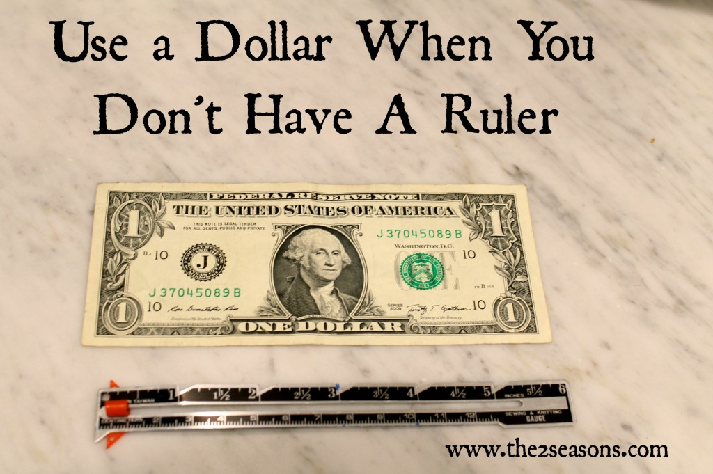 Dollar as a Ruler