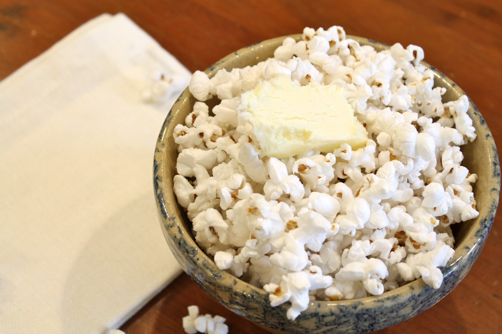 Popcorn w/ homemade butter