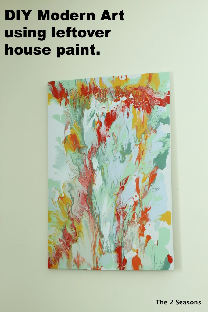 DIY Modern Art using leftover house paint