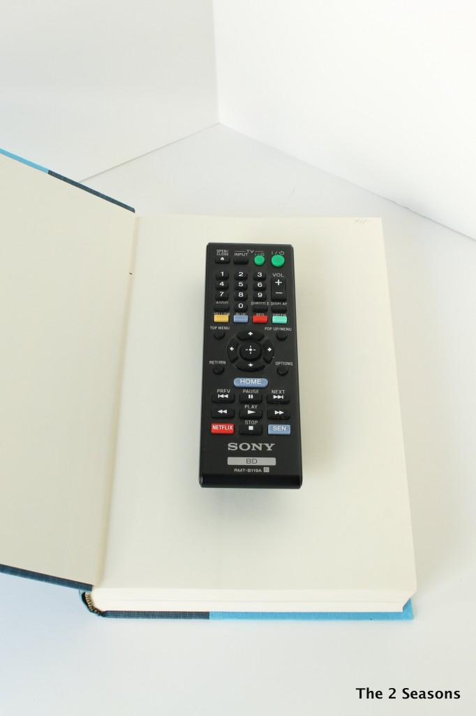 Hiding a remote in  a book