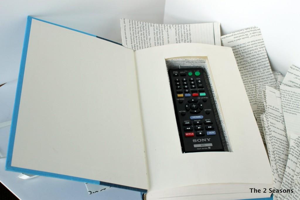 Hide a remote in a book