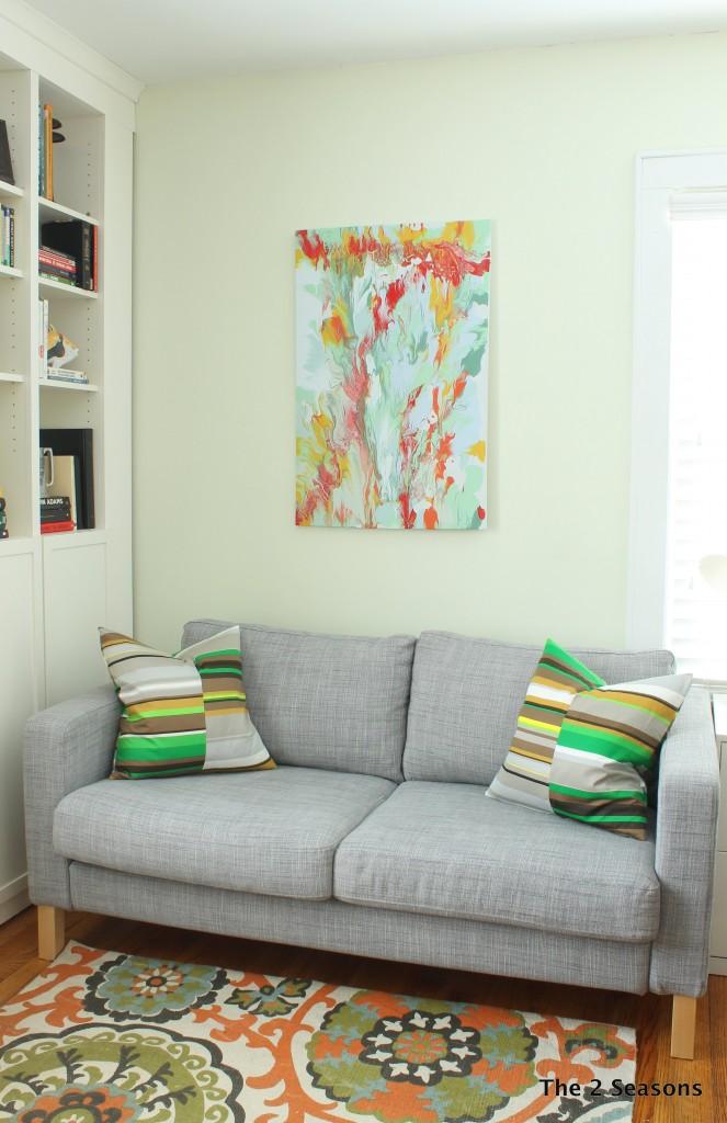DIY Modern Art using leftover house paint