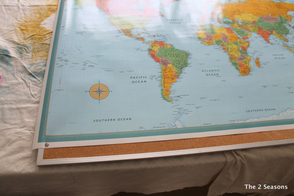 DIY Map Travel Board