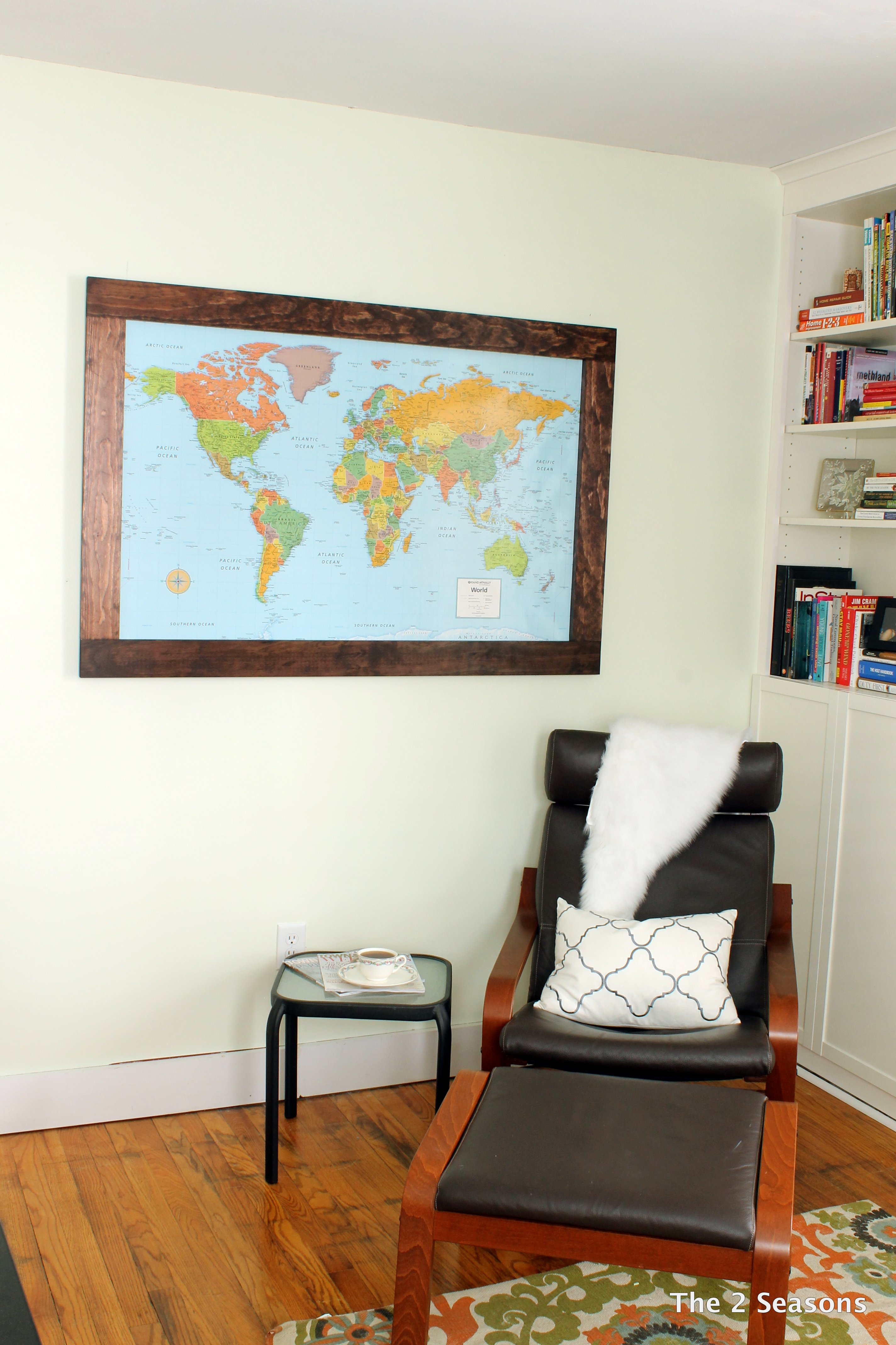 DIY Map Travel Board