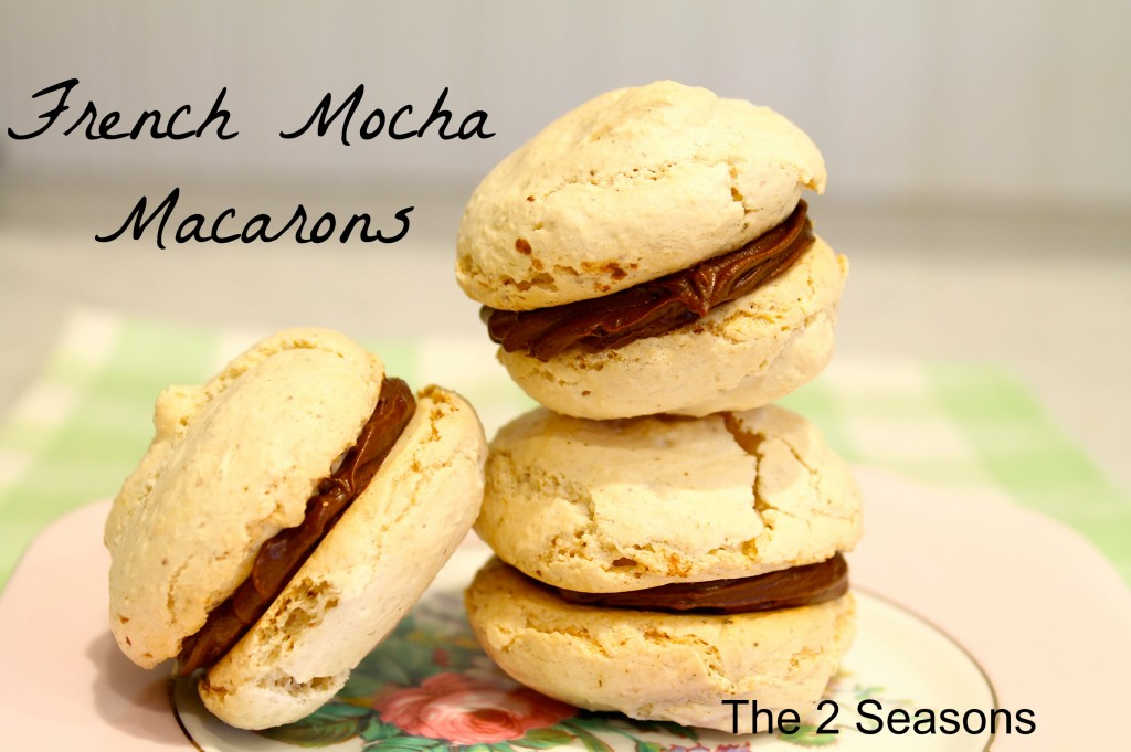 French Mocha Macarons - The 2 Seasons