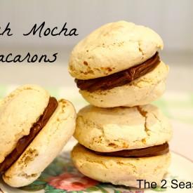 French Mocha Macarons - The 2 Seasons