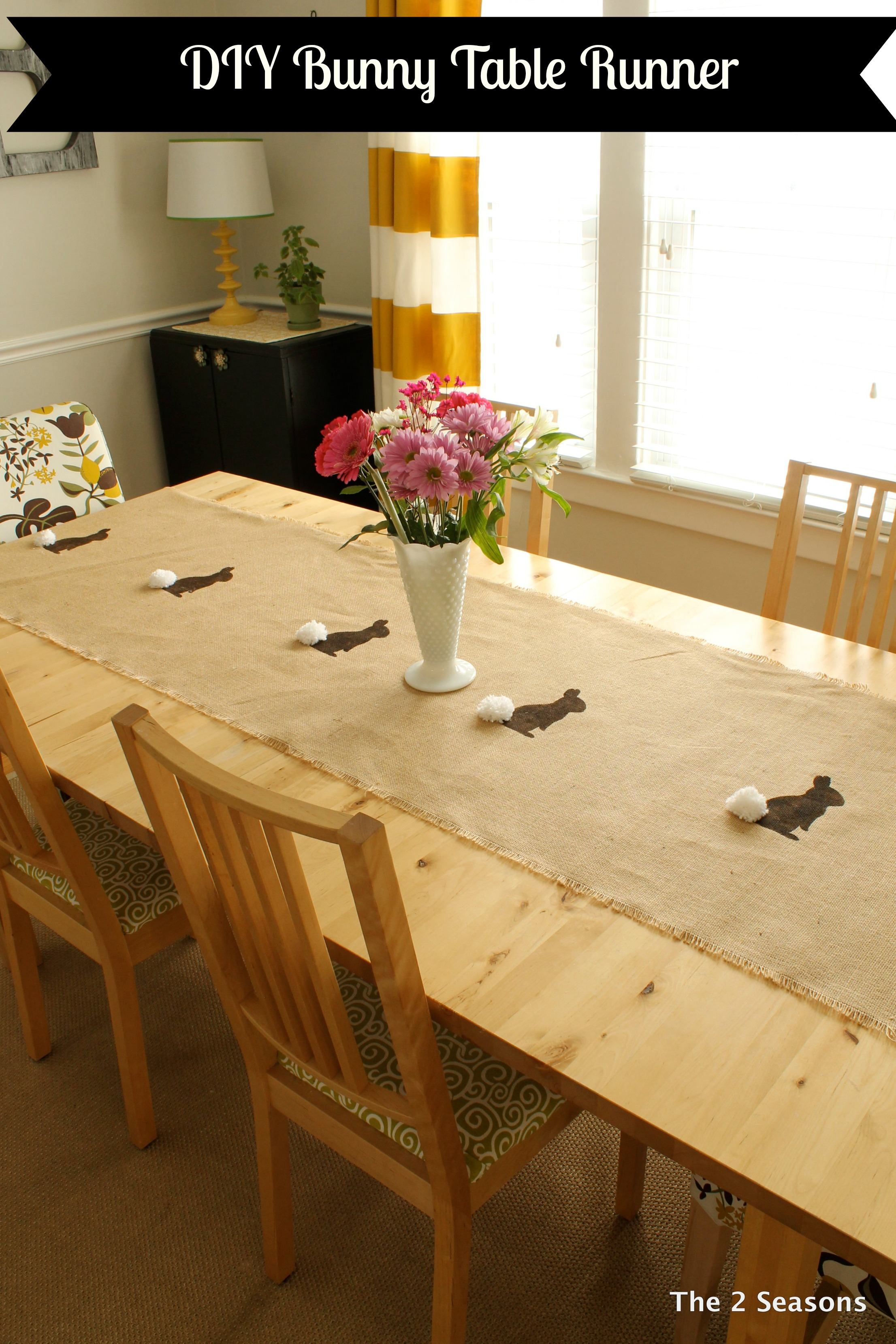 Pin It Image - DIY Bunny Table Runner