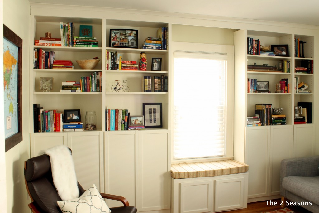 Built in Ikea Bookcases