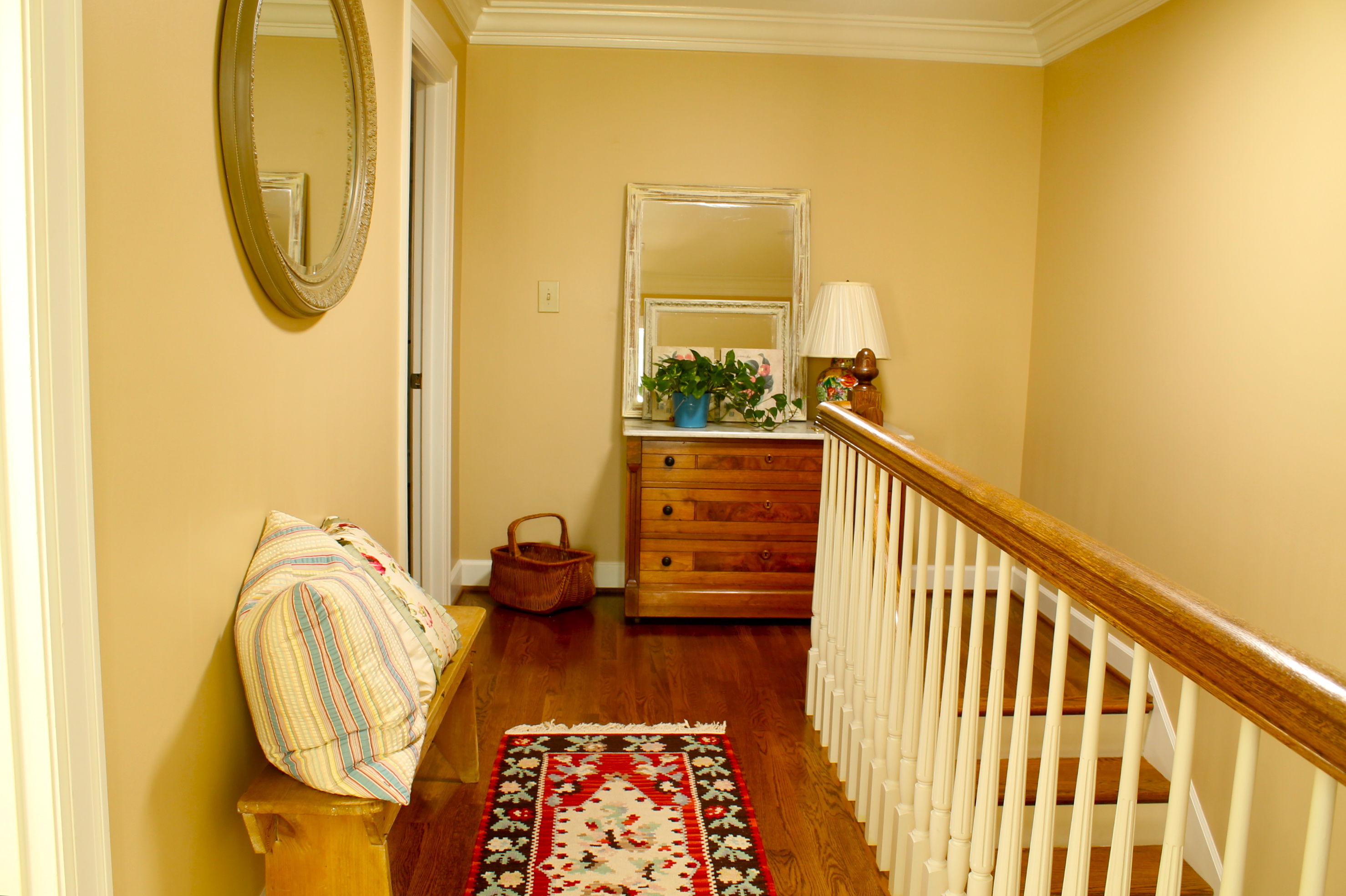 Upstairs hallway - before - The 2 Seasons