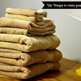 Use Vinegar to renew towels