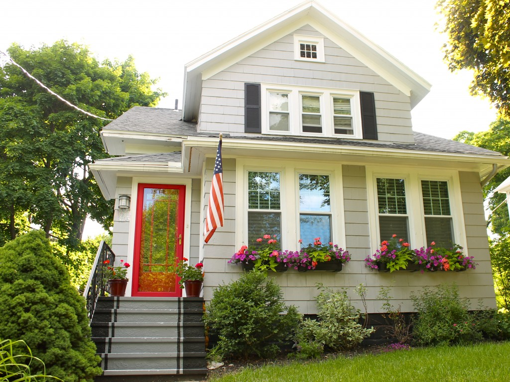 Behr paint favorite paint colors blog - Red exterior wood paint plan ...