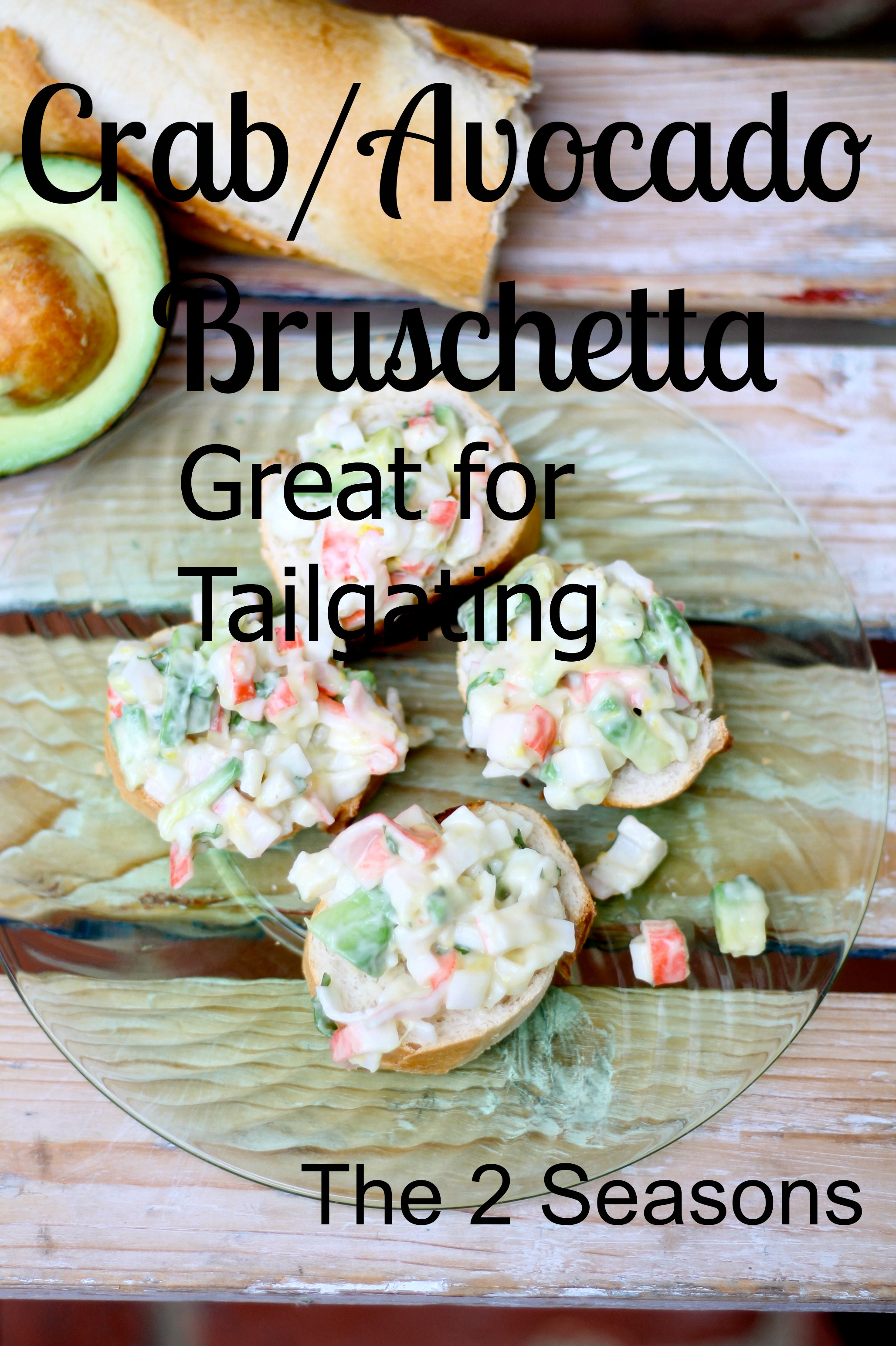CrabAvocado Bruschetta - Avocado Salad Recipe