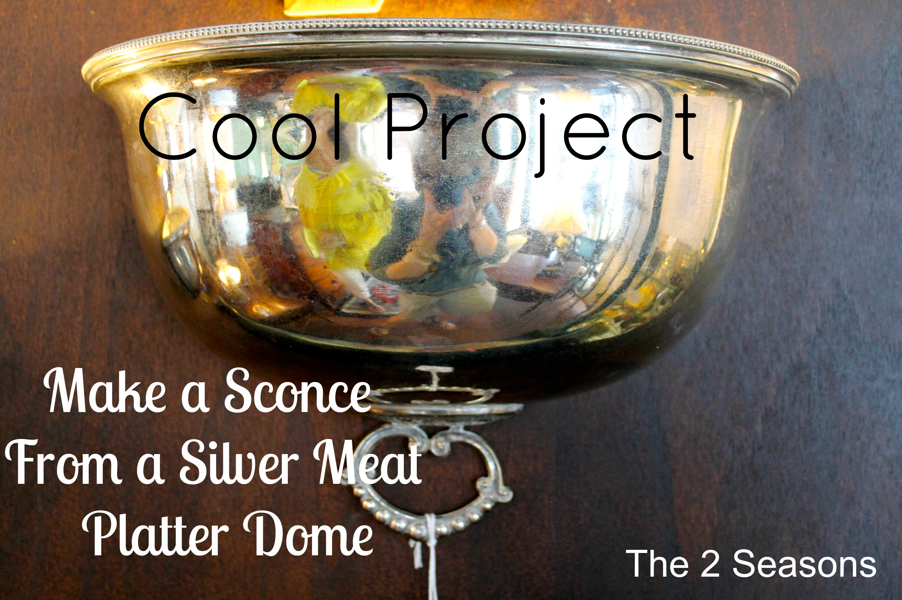 Silver Dome Sconce - Very Cool DIY Sconces