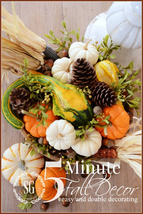 5 MINUTE FALL DECOR an easy and doable way to decorate beautifully in 5 minutes lots of pictures and instructions stonegableblog.com  e1411435305460 - The Seasons' Saturday Selections, #11