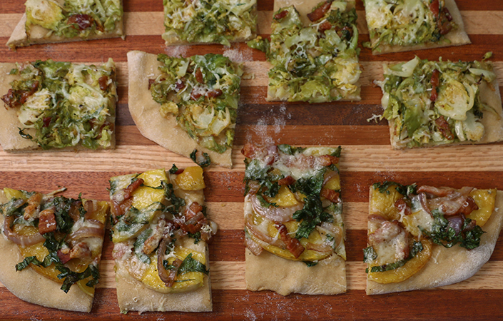 fallflatbreadbacon - Butternut Squash, Bacon and Kale Flatbread Recipe