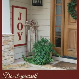DIY Joy Sign- Imparting Grace