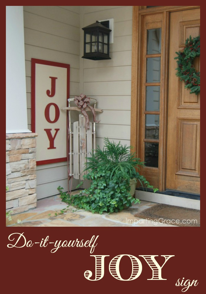 DIY Joy Sign Imparting Grace - The Seasons' Saturday Selections