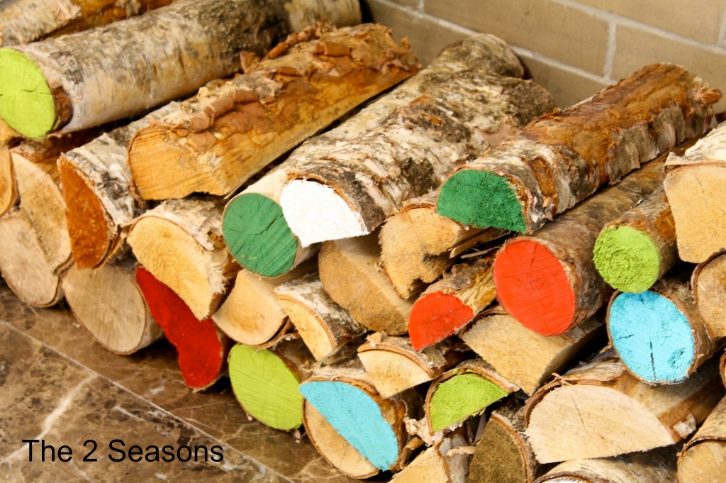 Painted Logs 1