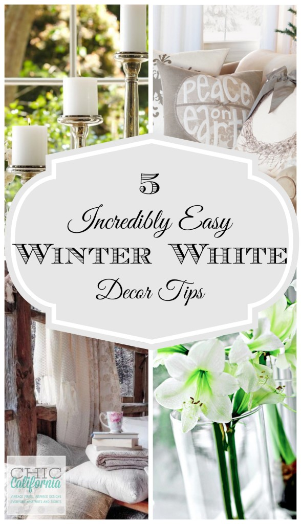 5 Incredibly Easy Winter White Decor Tips 588x1024 - The Seasons' Saturday Selections