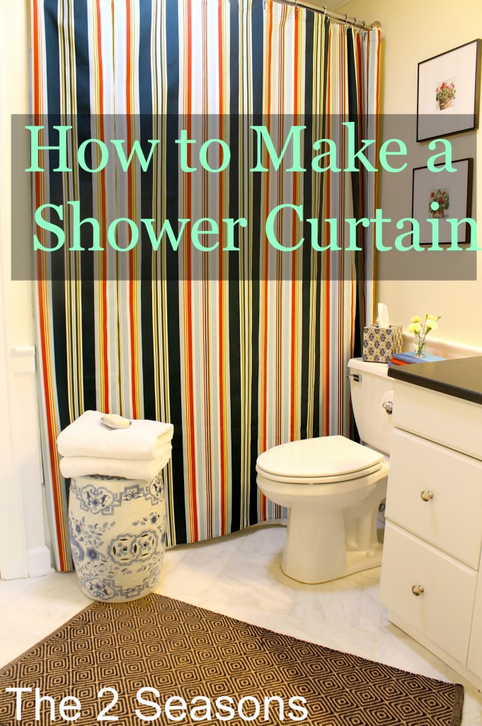 how to make a shower curtain. Black Bedroom Furniture Sets. Home Design Ideas