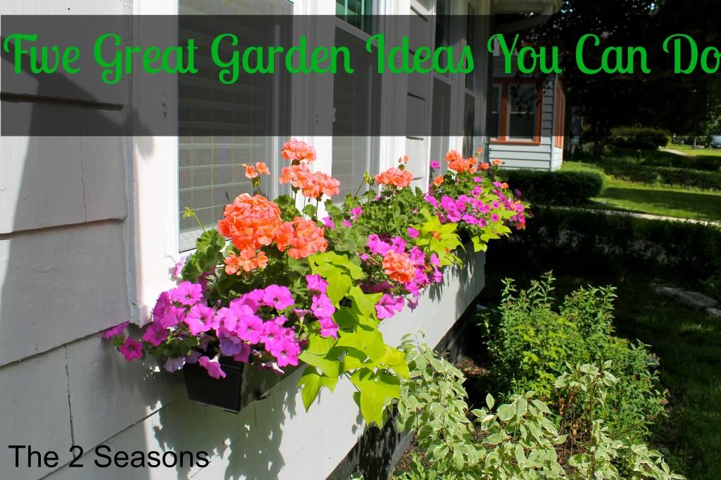 Five Garden Ideas 1024x682 - Five Great Garden Ideas