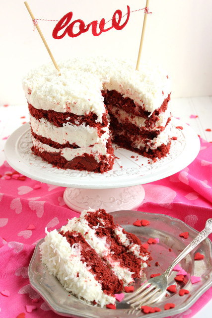 Red Velvet Coconut Cake 5 427x640 - Seasons' Saturday Selections