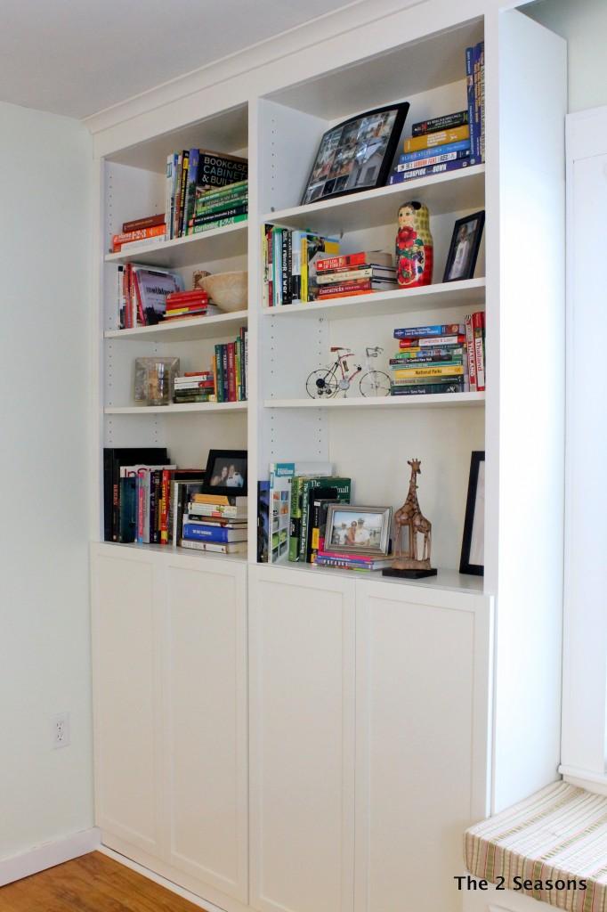 IMG 8609 682x1024 - Bookshelf Update With Peel-off Wallpaper