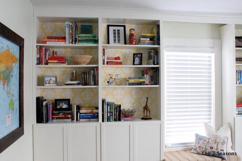 IMG 8731 1024x682 - Bookshelf Update With Peel-off Wallpaper