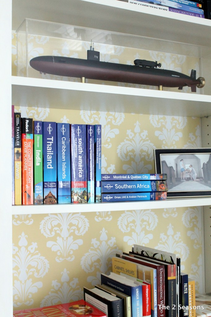 IMG 8735 682x1024 - Bookshelf Update With Peel-off Wallpaper