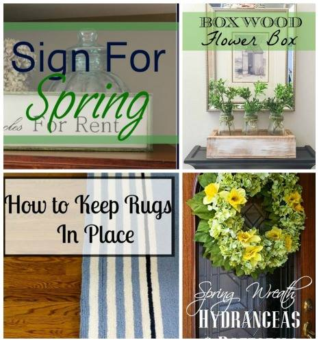 Blog Hop - How to Keep Rugs in Place