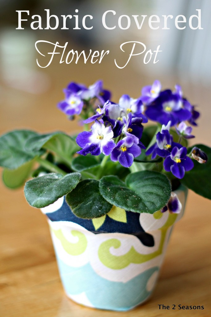 Fabric Covered Flower Pot