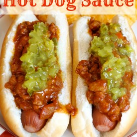This is the perfect sauce to serve on hot dogs for Super Bowl Sunday. - The 2 Seasons