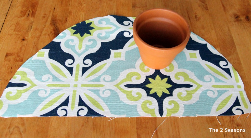 DIY Fabric Covered Flower Pot