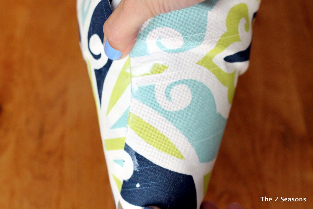 DIY Fabric Covered Pot