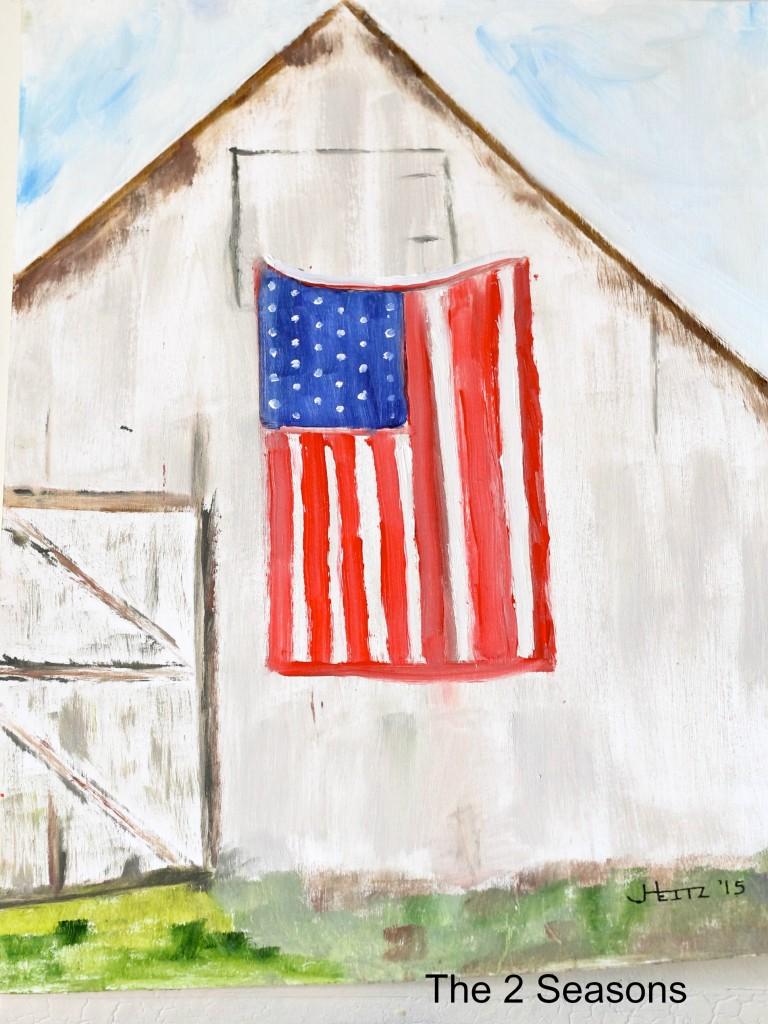 Barn and Flag 2