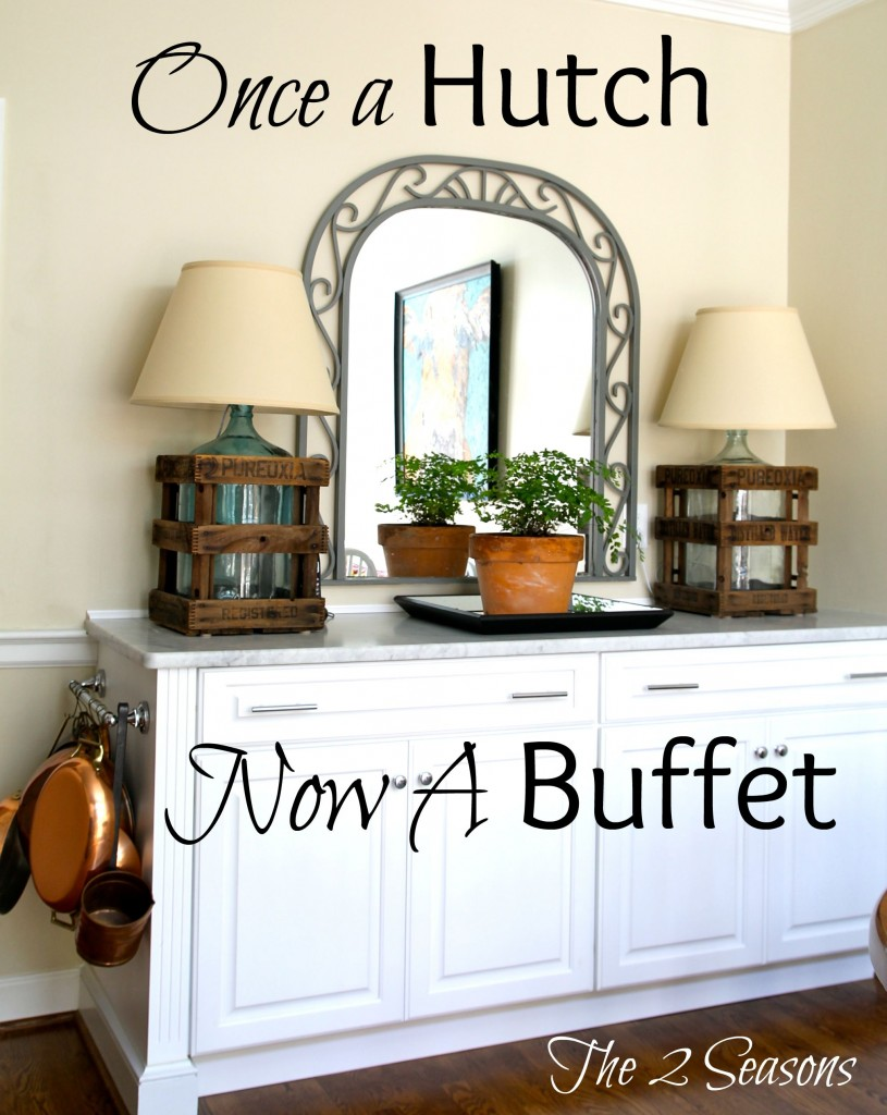 hutch Becomes Buffet 815x1024 - Converting a Hutch to a Buffet