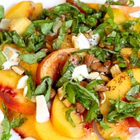 Fresh peach salad