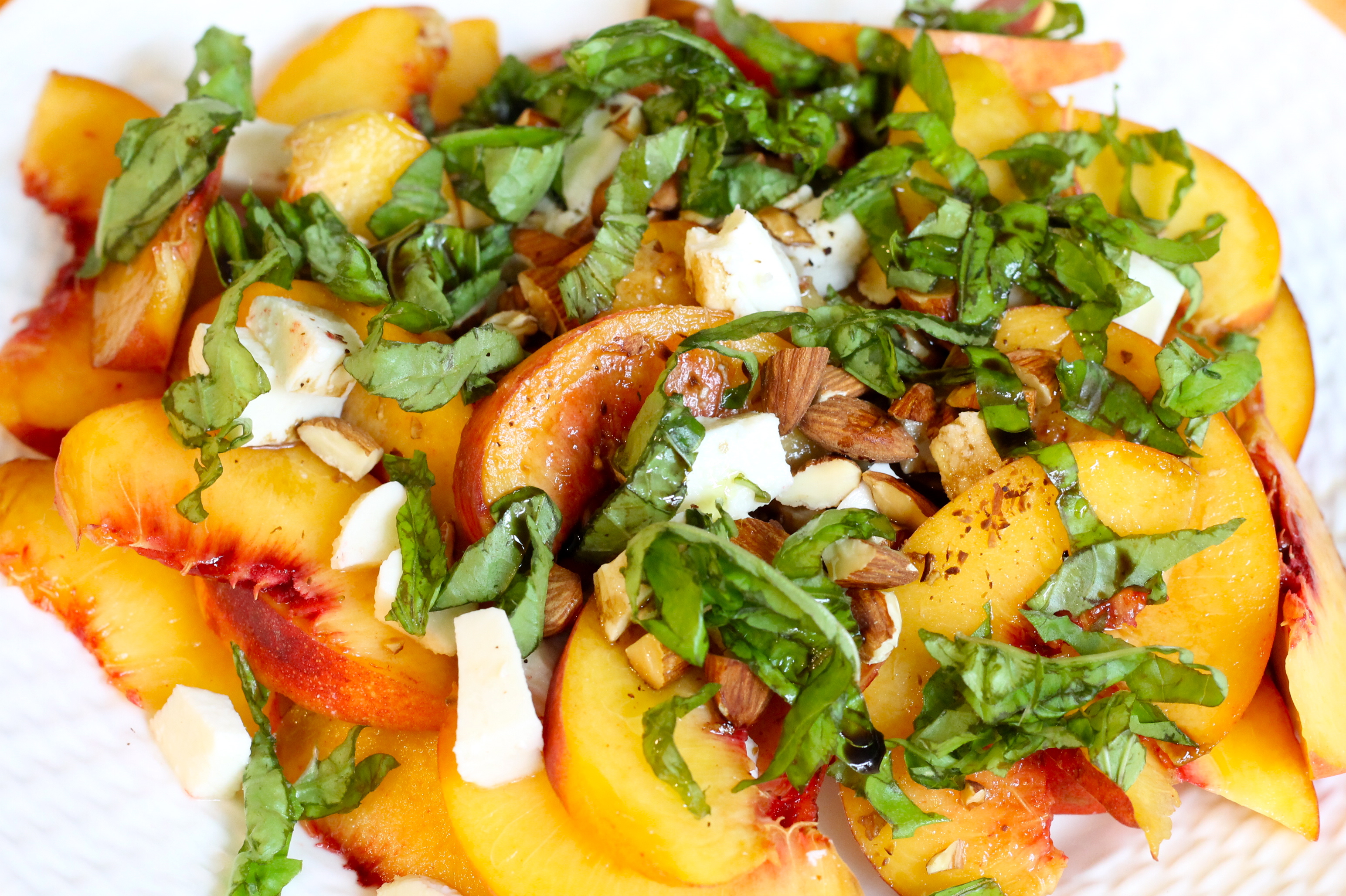 Fresh peach salad is to die for. - The 2 Seasons