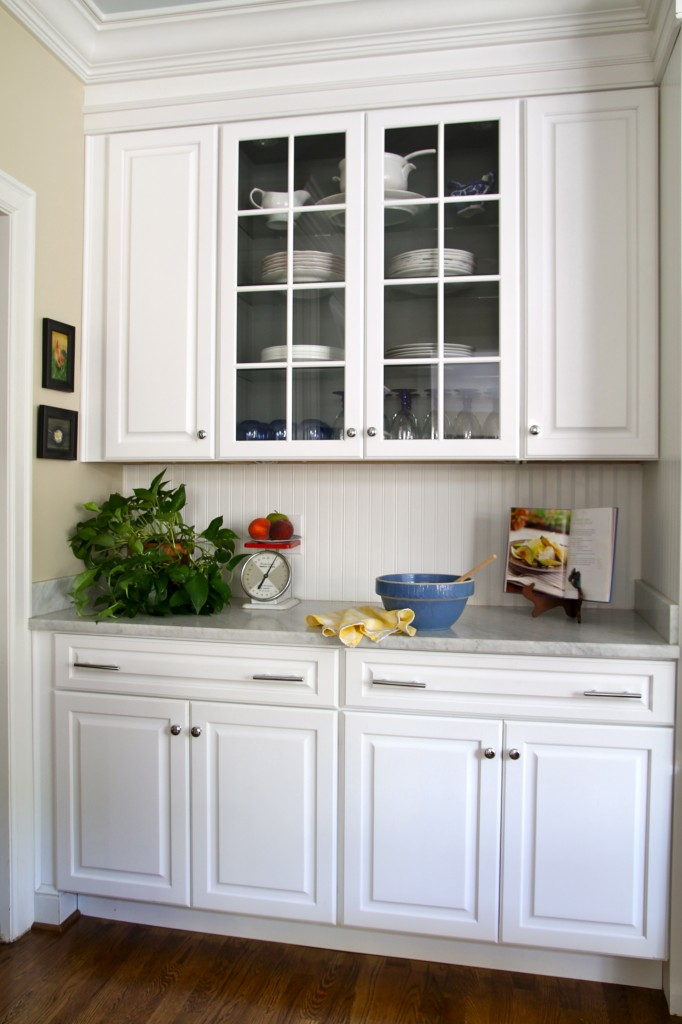 Kitchen cabinet w/ glass