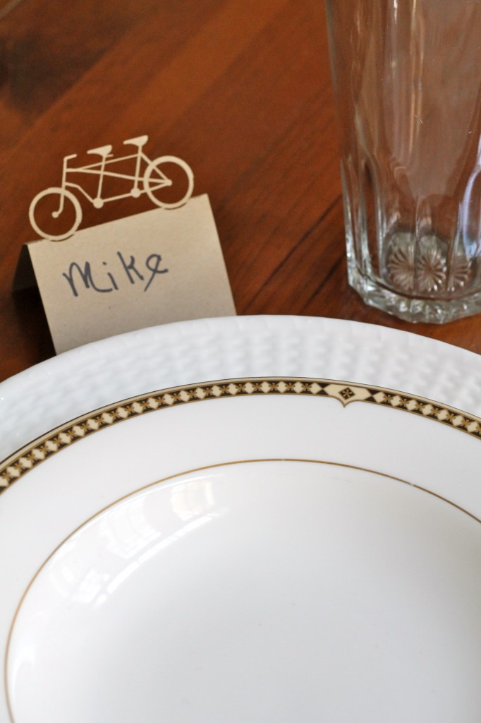Table setting w/ place card