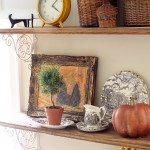Fall Kitchen Shelves
