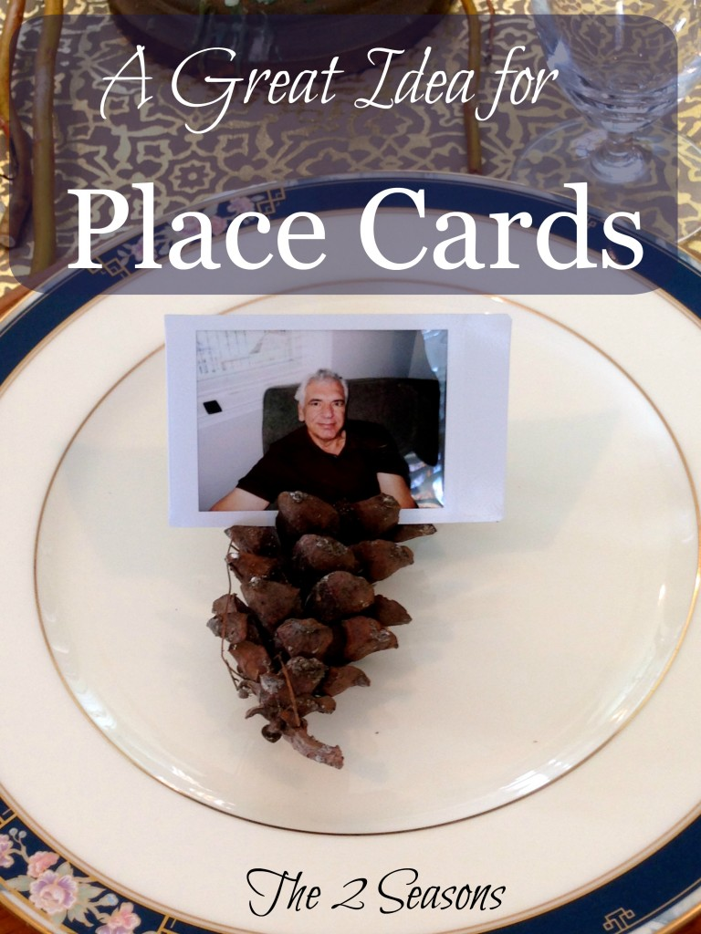 Use instant camera photos to make great place cards. - The 2 Seasons