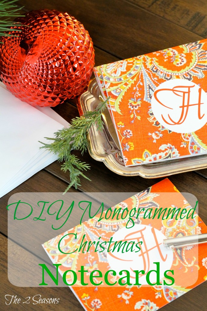 DIY Monogrammed Notecards
