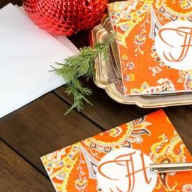 DIY Monogrammed Notecards - The 2 Seasons